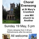 Choral Evensong at St Mary's Church May 19th 2019 5.00pm